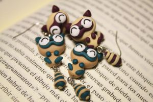 Raccoon Earrings by Nabila1790