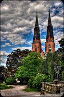 Uppsala cathedral by SkattoNollFem
