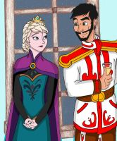 Elsa and Roland When they first meet by Creepyland