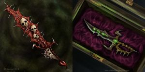 Demon weapons by gameofdolls