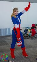 Tah-Dah!  (Knitted Captain America - Marvel) by FangirlPhysics