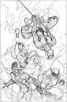 X-Men 7 Cover Pencils by TerryDodson