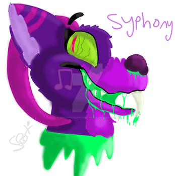 Symphony the demon saber tooth by SpotSpeckledCheetah1