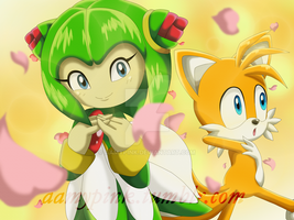 Cover 3: Tails and Cosmo by Aamypink