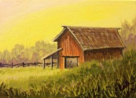ACEO Gonna Be A Bright Sunshine Day by annieoakley64