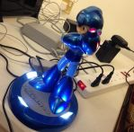Megaman 25th anniversary light statue by shadowthehedgehogzx