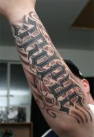 Ambigram Tattoo design by lowlife619