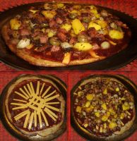 Criminara Bacon-Turkey Ham-Mango-Green Olive Pizza by Windthin