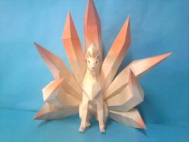 ninetales papercraft by rafex17