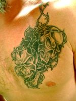 chest tattoo by Toast79