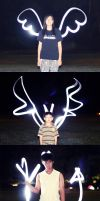 light painting: by julia by auroille