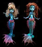 Monster high Ooak custom mermaids by clefchan
