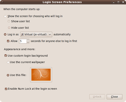 Login Options for Ubuntu 10.04 by JE1403
