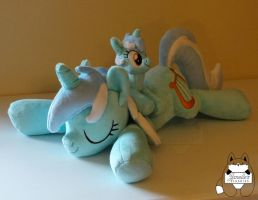 Lyra Heartstrings Sleeping and Beanie plushies by JanellesPlushies