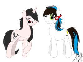 :AT: Jazz Hooves and Sketch Pad by Ruby-Orca-616