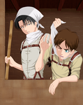 Back to cleaning Eren! by Rochete