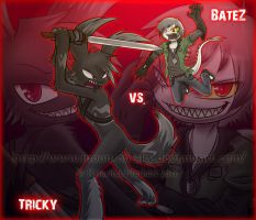 Tricky vs. BateZ by MoonyWings