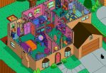 Simpson's House Cutaway Second Floor by ajdelong