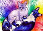 Two Kitties Commission by Sheltie2b