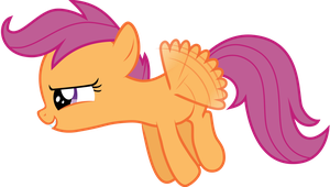 Scootaloo takes flight by sakatagintoki117