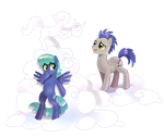 Commission: Sky Charmer and Stratus Sigma by Author-chan