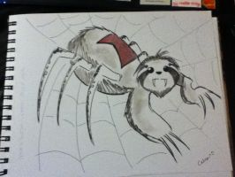 The Sloth Spider by ChibiCelina