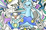 Oshawott and Dewott by ushiyasha