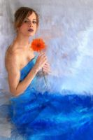 Girl with Orange Flower by gekogurli