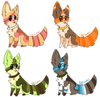 adoptables by pup-cakes