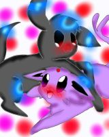 CE Espeon and Umbreon by FlaraTheFlareon