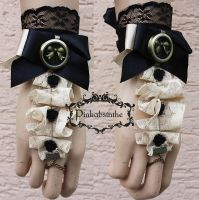 Black rose cuff by Pinkabsinthe