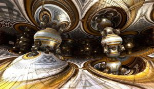 greygold bulb hall by Andrea1981G