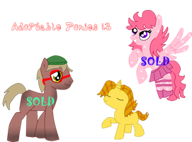 Adoptable Ponies by TheStalkerific