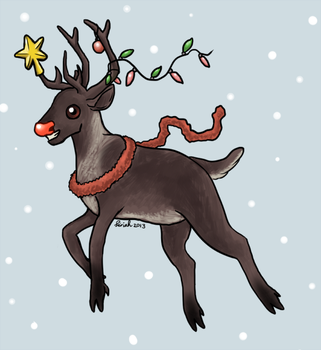 Rudolph the Red-Nosed Reindeer by Siriah