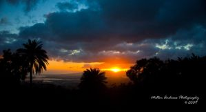 Sunset Over Oahu by Milton-Andrews