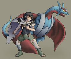 C: Zinnia and Salamence by Aki-rain