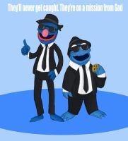 The Blues Brothers by MonocleBunny