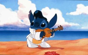 Stitch as Elvis by liloandstitchfanclub