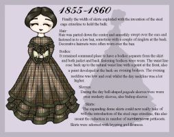 1855-1860 Fashion Card by lady-of-crow