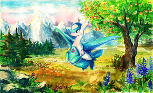 Latios Painting by xTyma