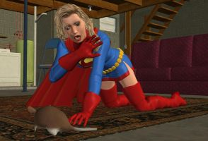 Supergirl Afraid of a Mouse by CaptainZammo