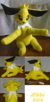 Jolteon Plush by teenagerobotfan777