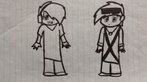 Children Deadlox and SkyDoesMinecraft by rebma97