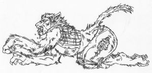 Werewolf TF by LoboLeo by Stonegate