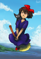 A Witch and her Cat by Quiell