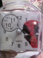 Deadpool mini clock by cutiechibi