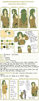 Forrest Reference Sheet Meme by SongKnight