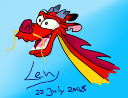 Mushu - Some crazy lizard by levy120