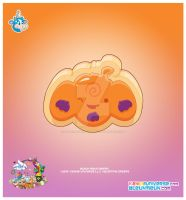 Kawaii Pumpkin Sugar Cookie by KawaiiUniverseStudio