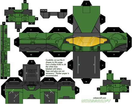 Halo mark five armor cubee by mikeyplater